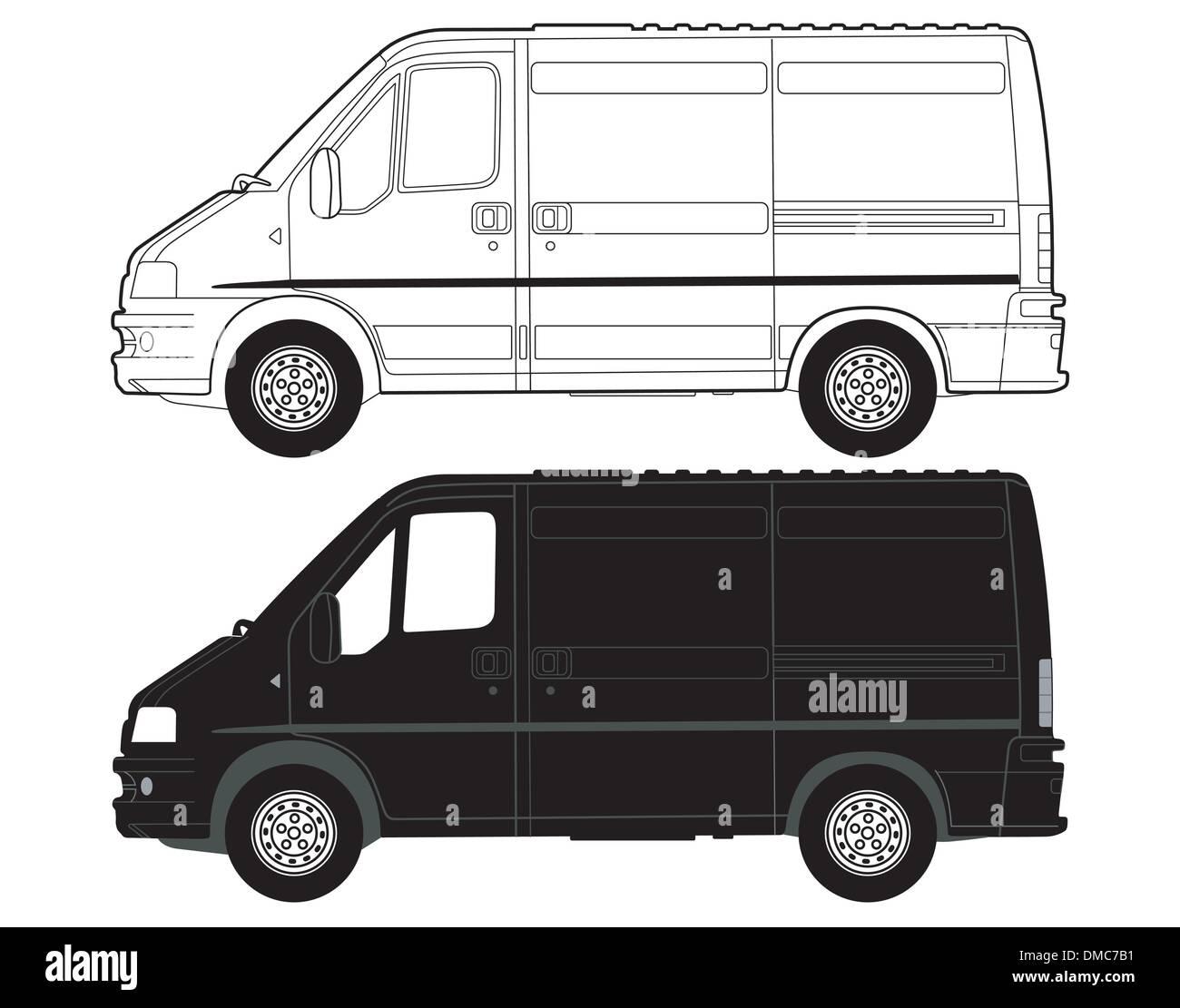 Transportation Van - Stock Image