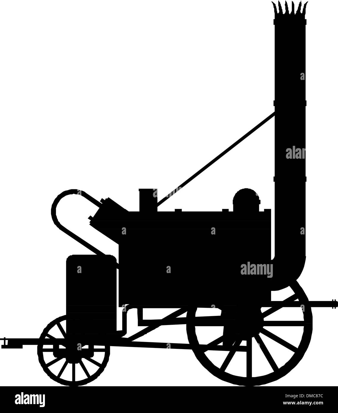 Vintage steam locomotive. - Stock Image