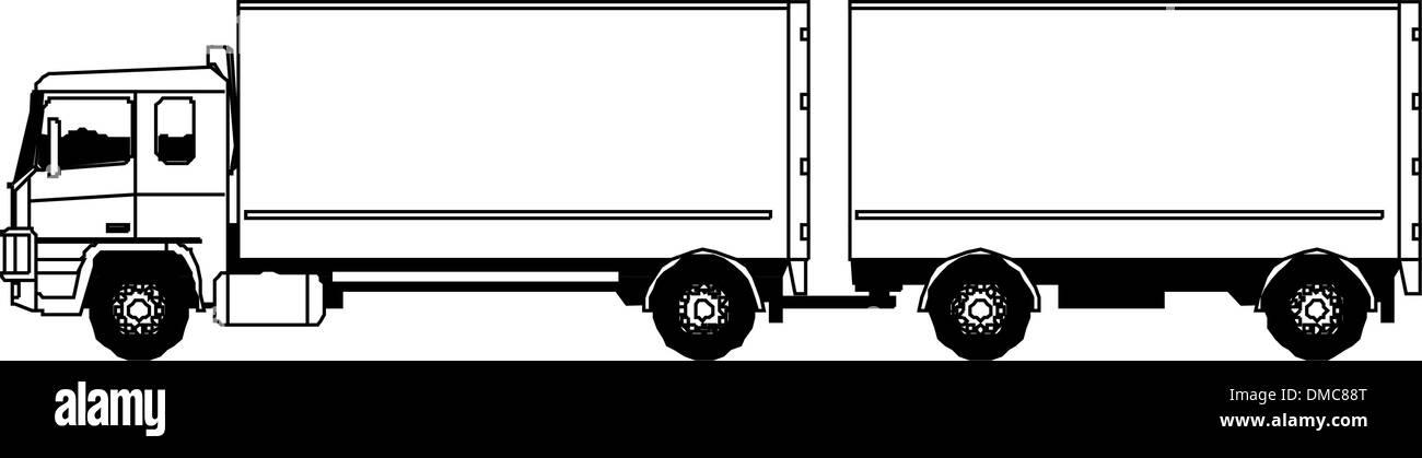 Isometric Truck - Stock Image