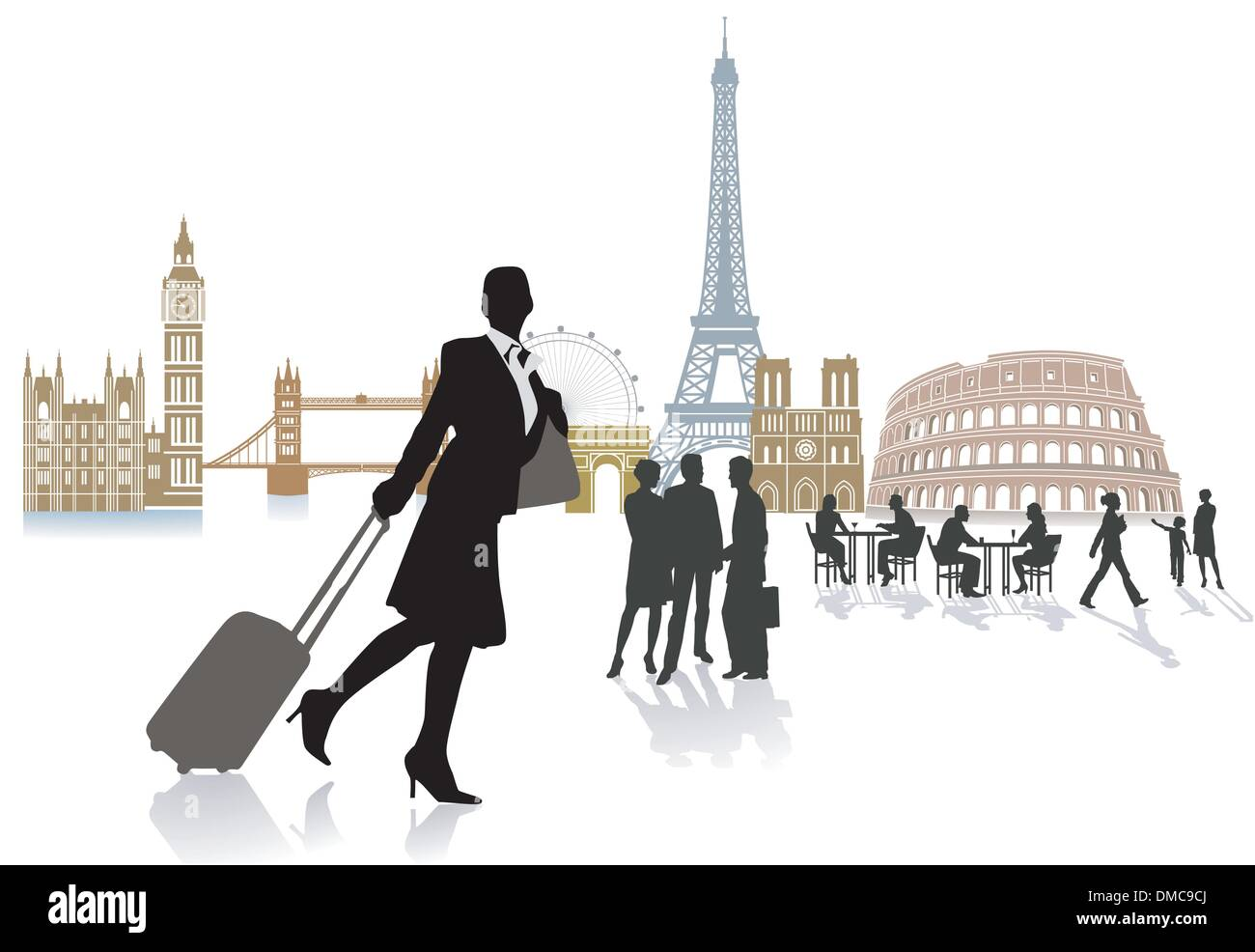 Travel in Europe - Stock Vector