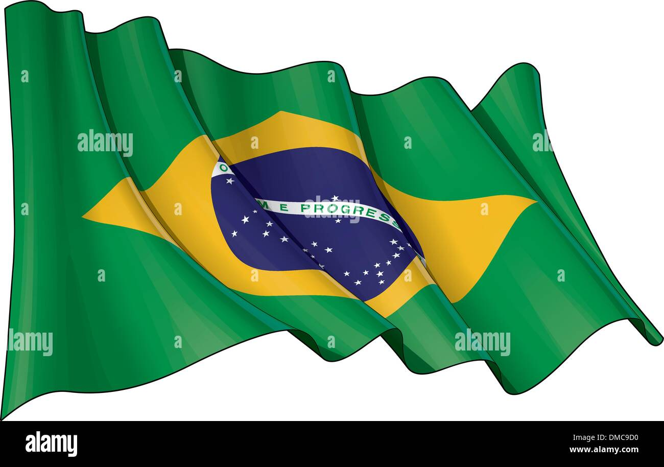 Flag of Brazil - Stock Image