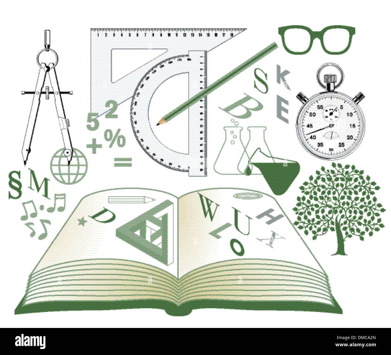 Studies symbols - Stock Image