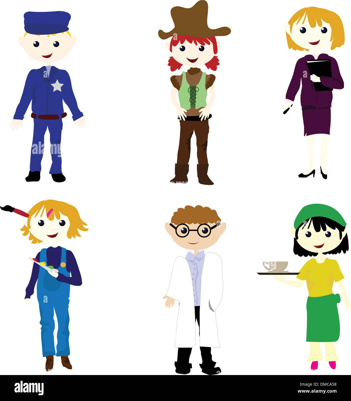 Career Cartoon Kids Stock Vector Image Art Alamy
