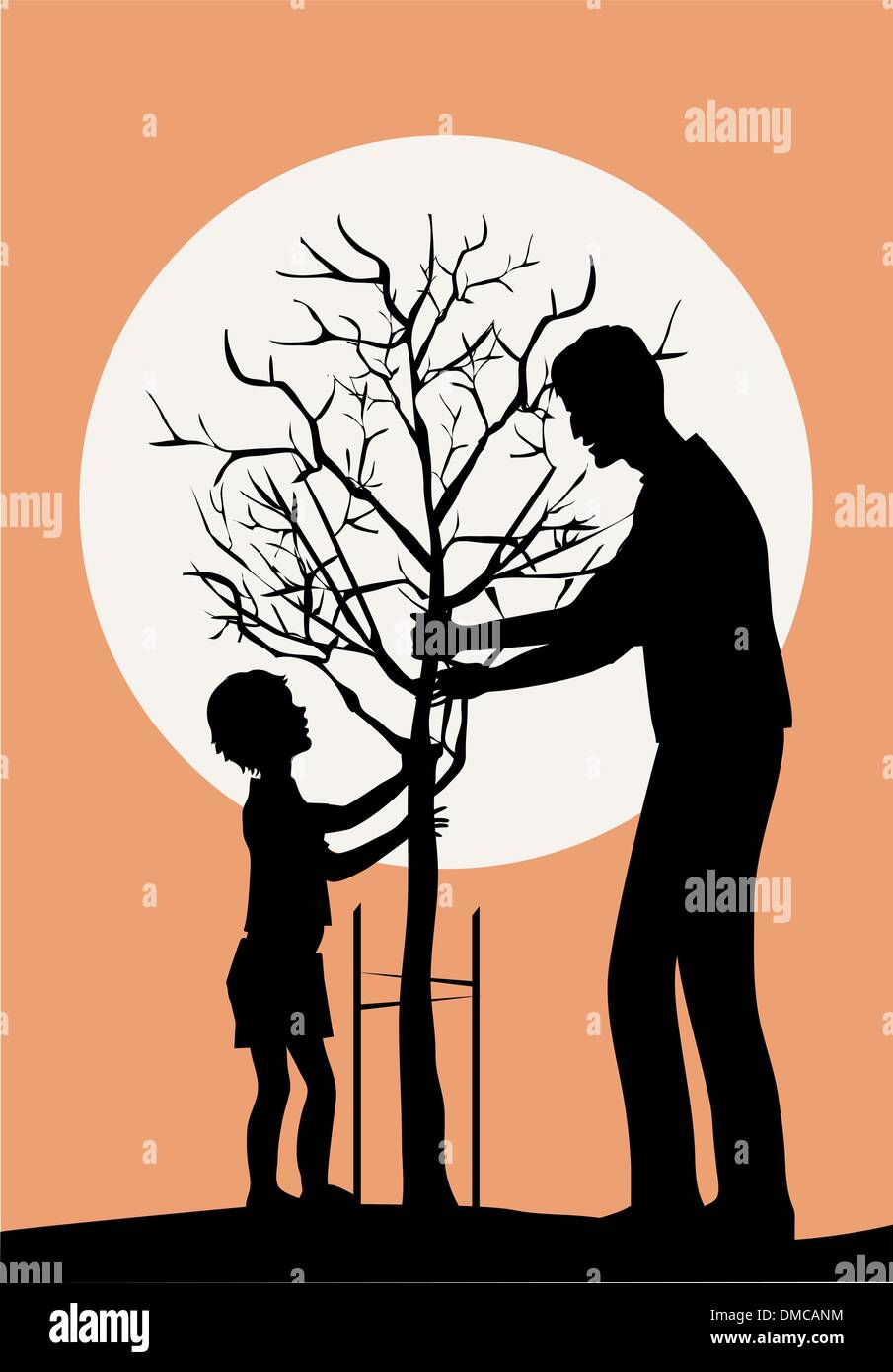 Planting tree - Stock Image