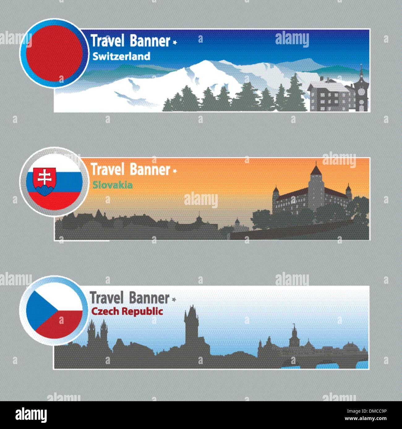Travel banners - Stock Vector
