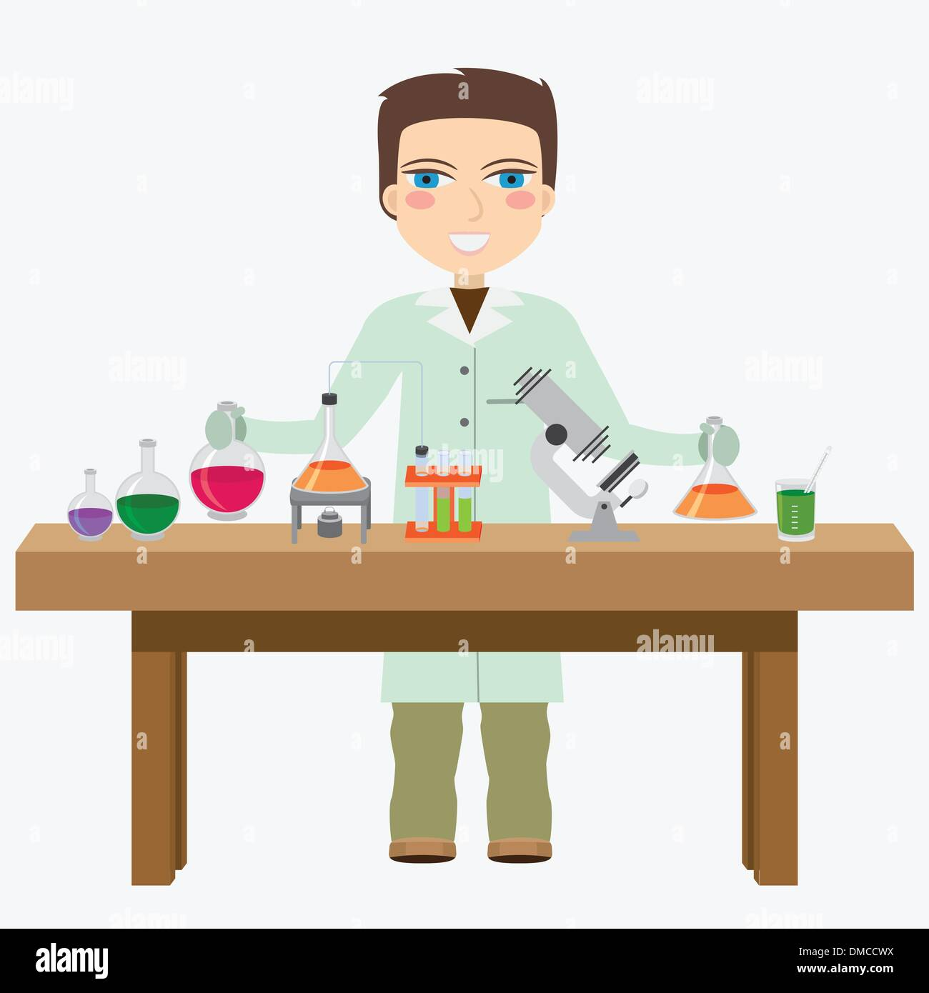 Chemist in the laboratory. - Stock Image