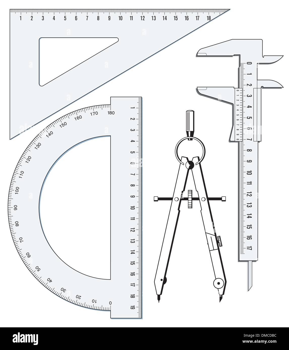 precision geometry - Stock Image