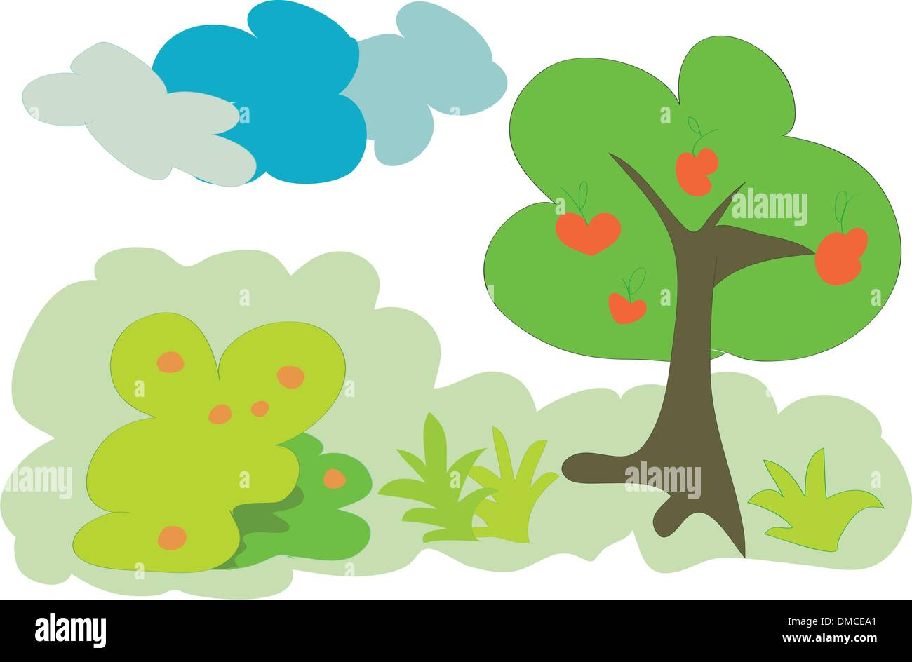 fruit forest tree - Stock Vector