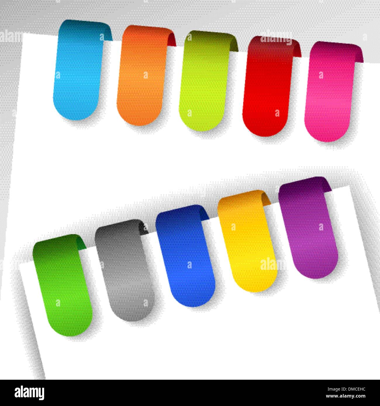 Colorful paper tags - Stock Image