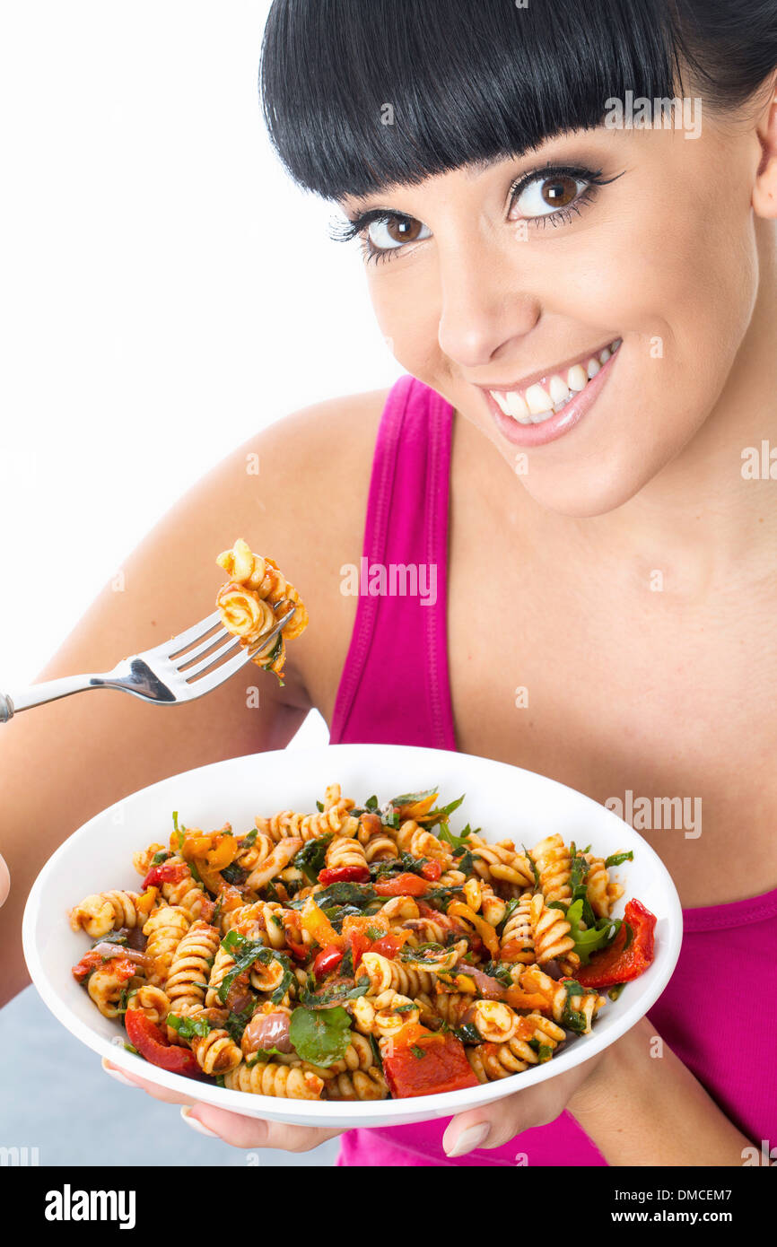 Image result for stock image woman eating pasta