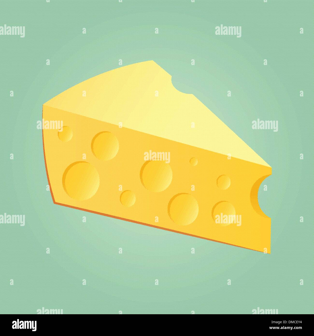 Slab Of Cheese Stock Vector