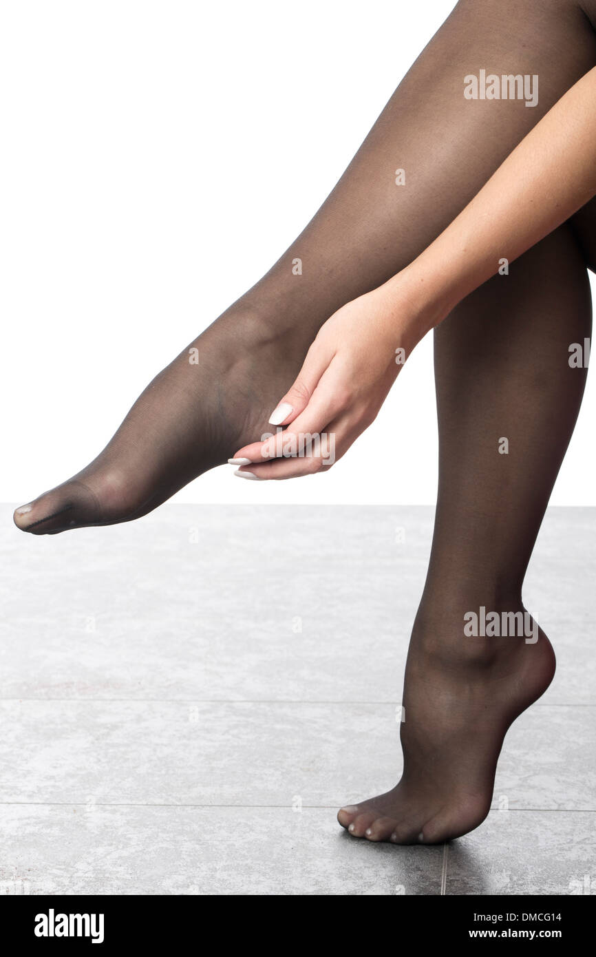Stocking feet are not