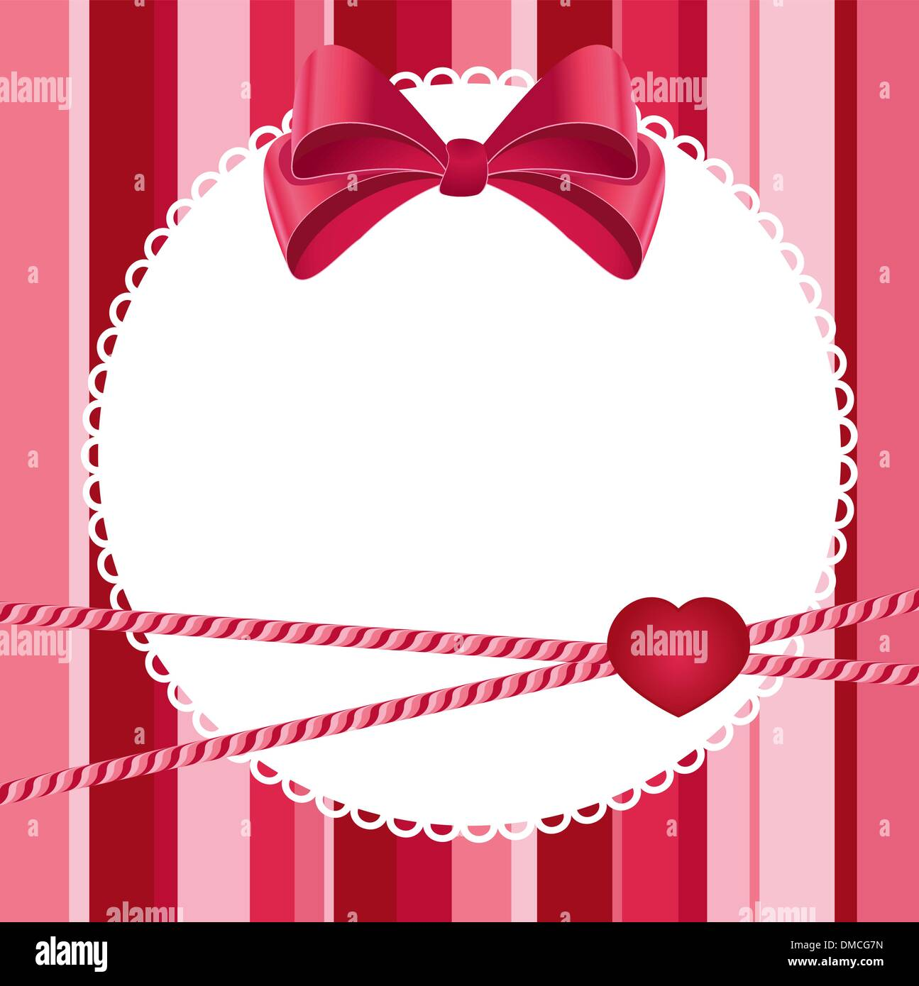 pink scrap background with bow - Stock Image