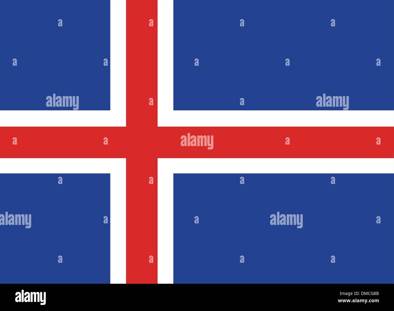 Flag of Iceland - Stock Image