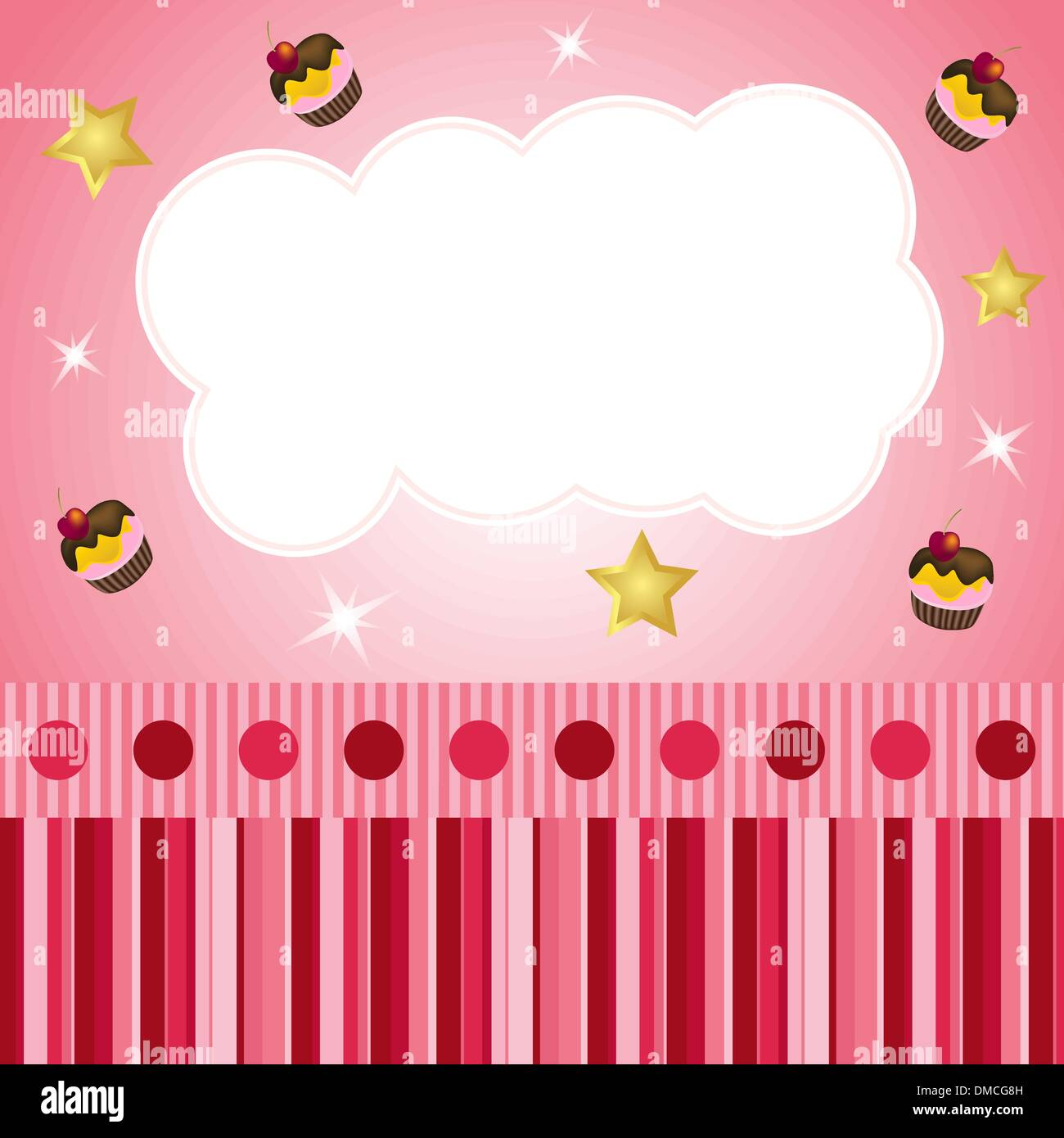 pink scrap background with cloud - Stock Image