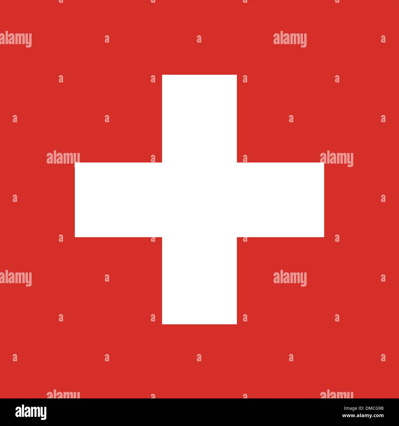 Flag of Switzerland - Stock Vector
