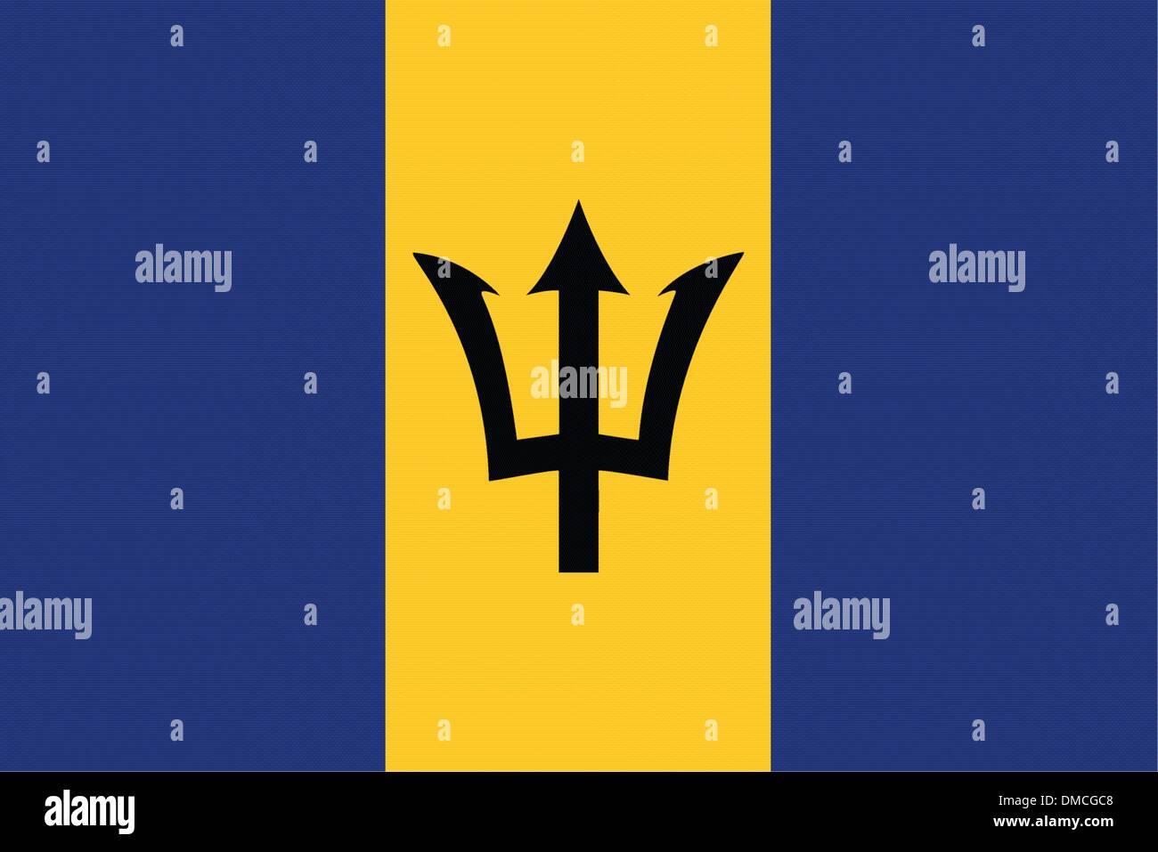 Flag of Barbados Stock Vector