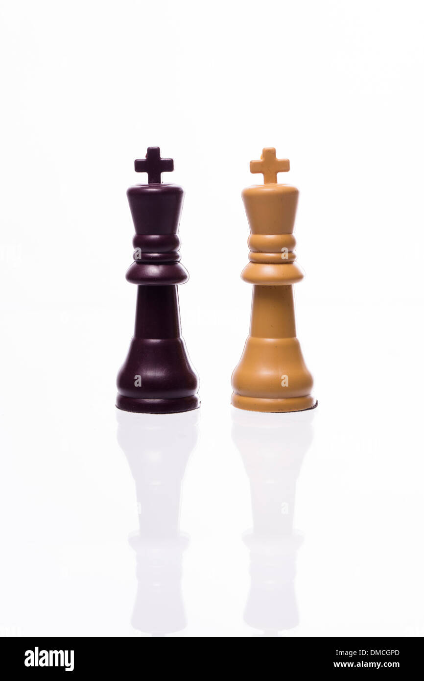 Two kings; Chess pieces Stock Photo