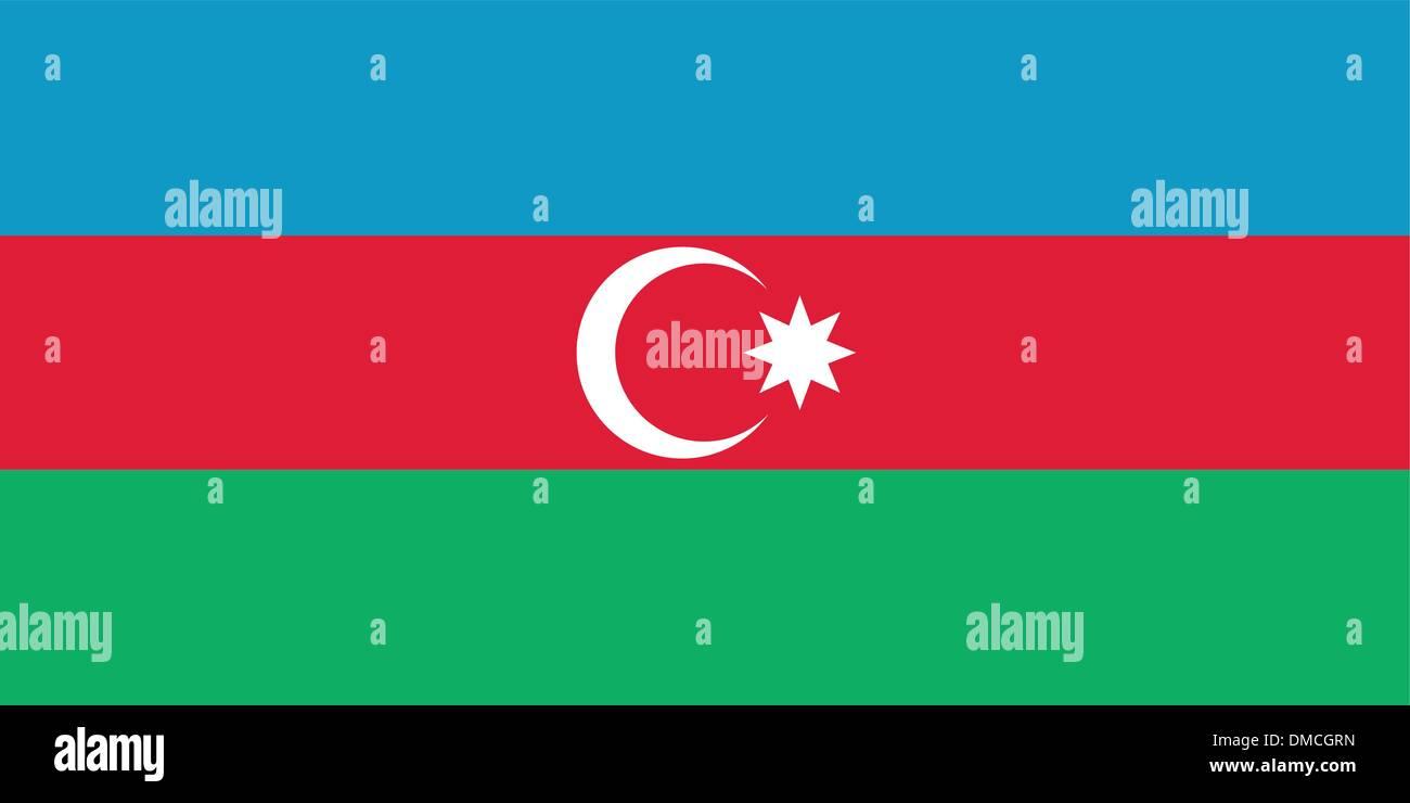Flag of Azerbaijan - Stock Vector