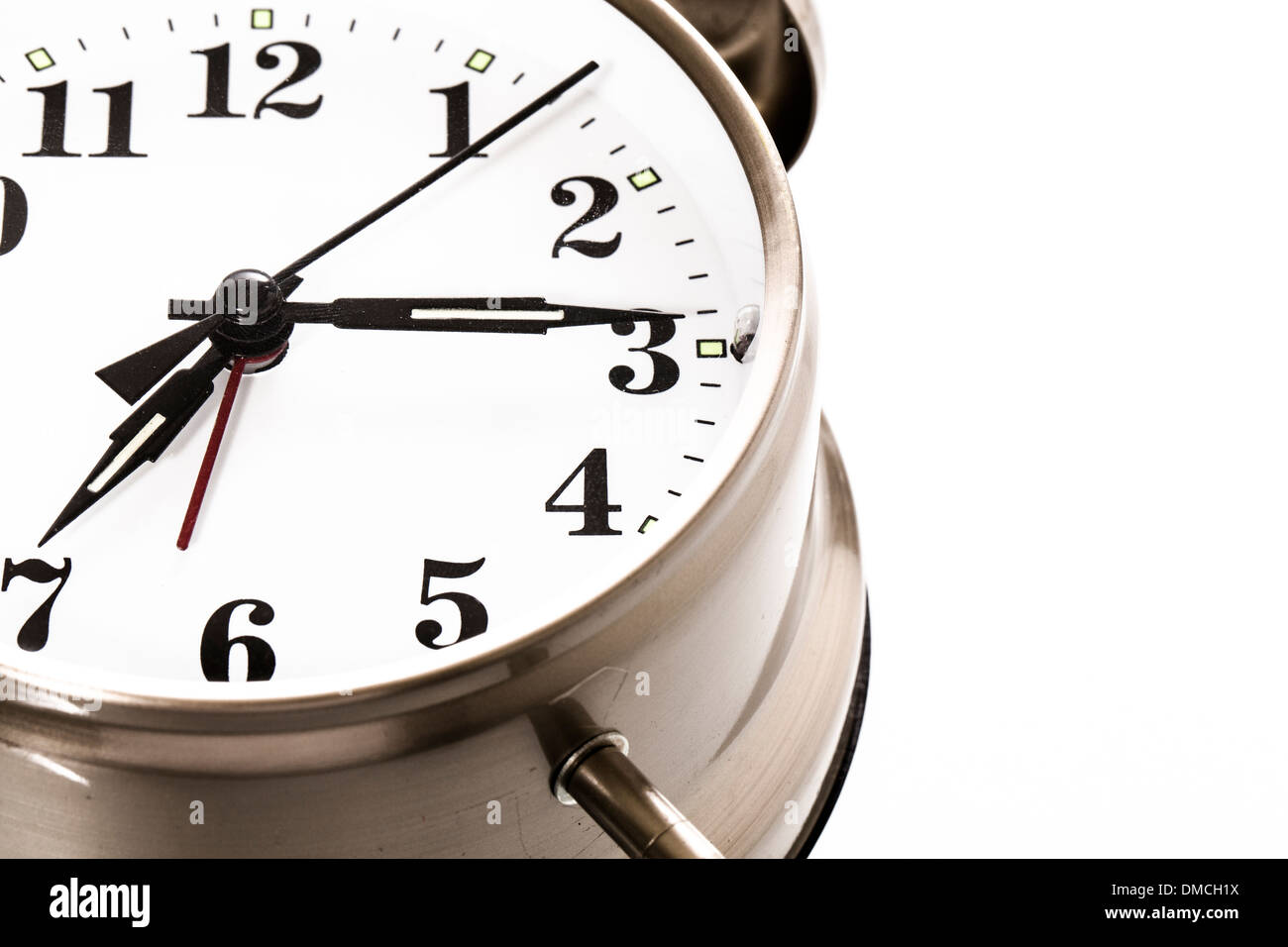 Analog alarm clock - Stock Image