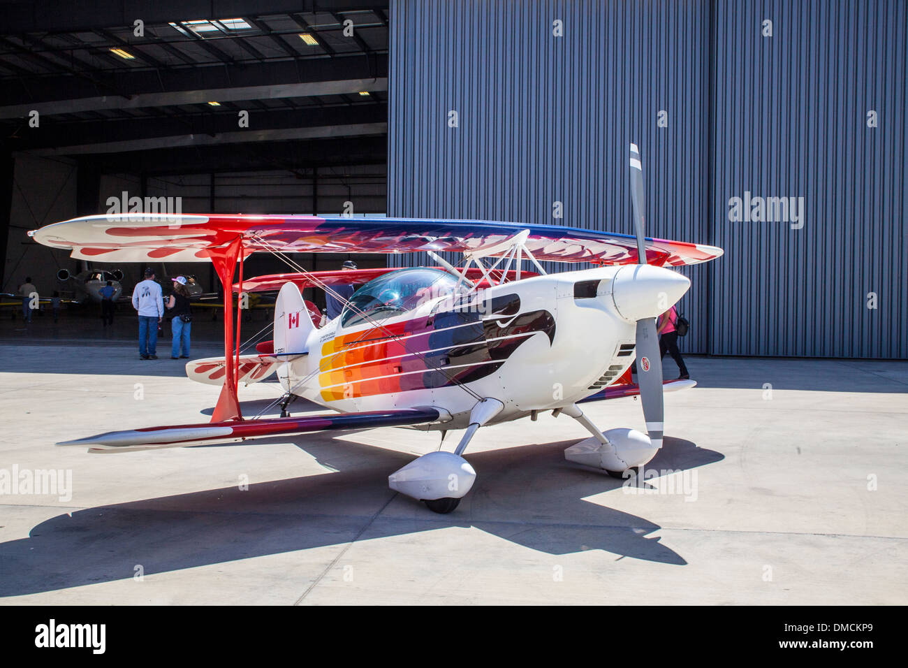 An Aerobatic Plane At the Wings Over Camarillo Airshow in Camarillo California in August of 2011 - Stock Image