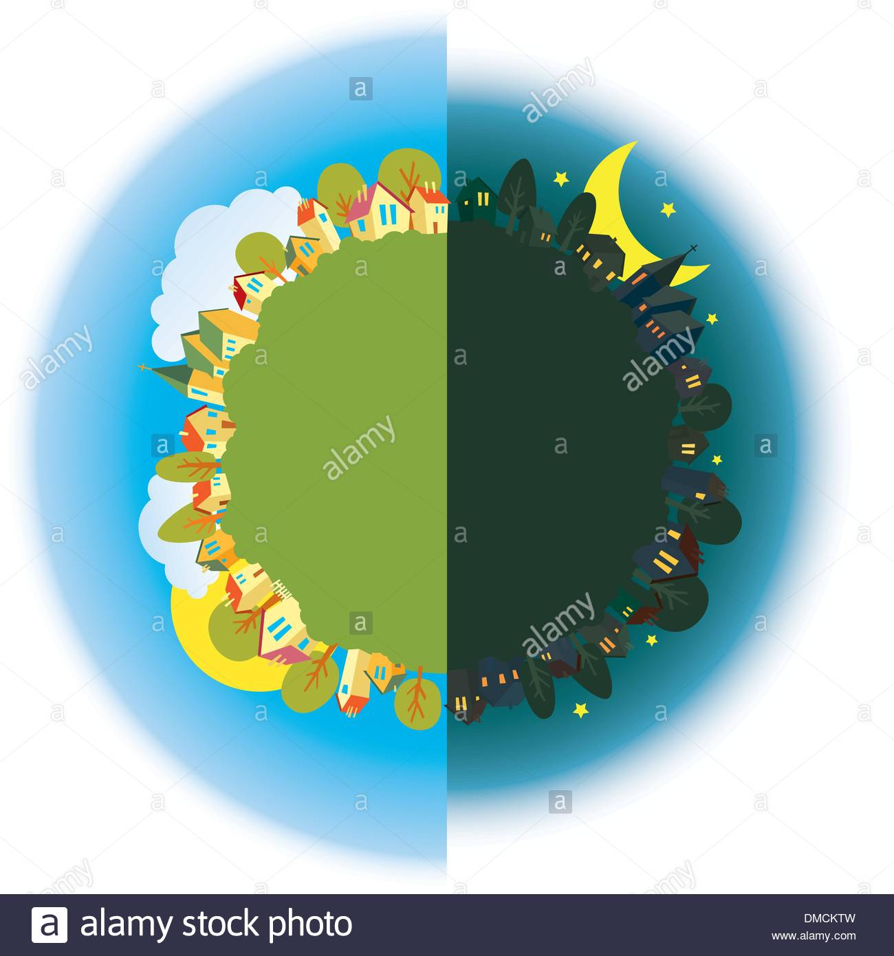 Day and Night - Stock Image