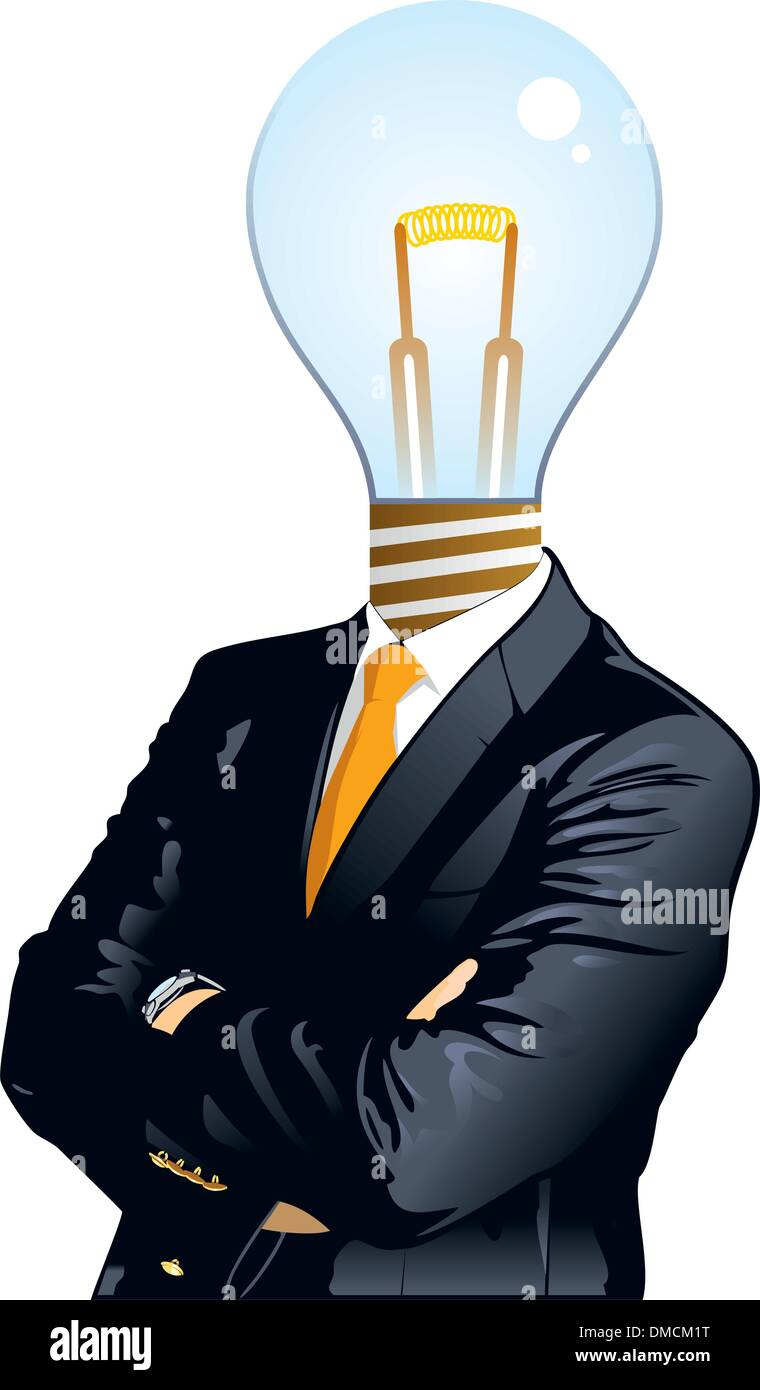 Bussiness people, idea concepts illustration - Stock Vector