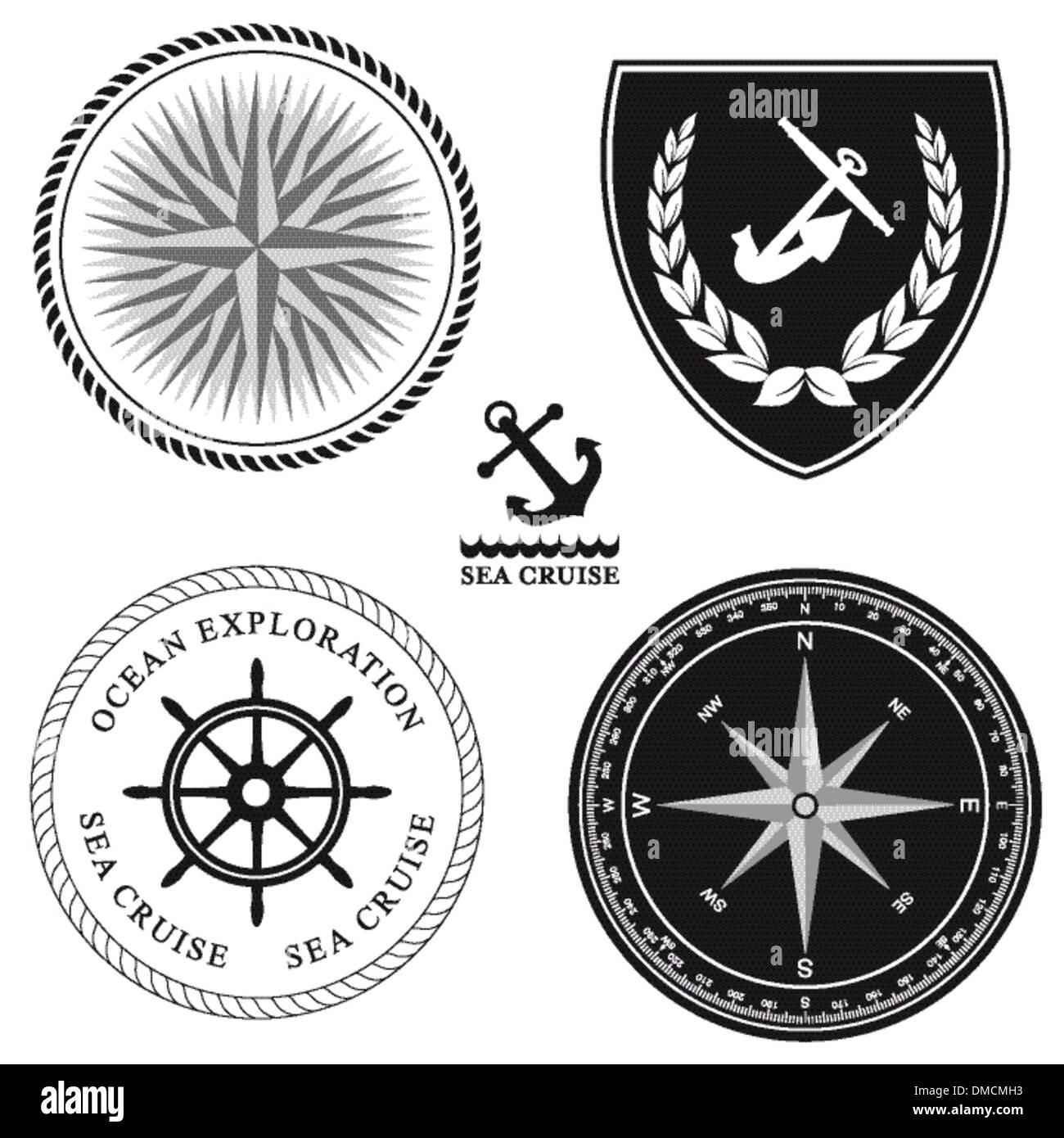 Maritime symbols - Stock Image