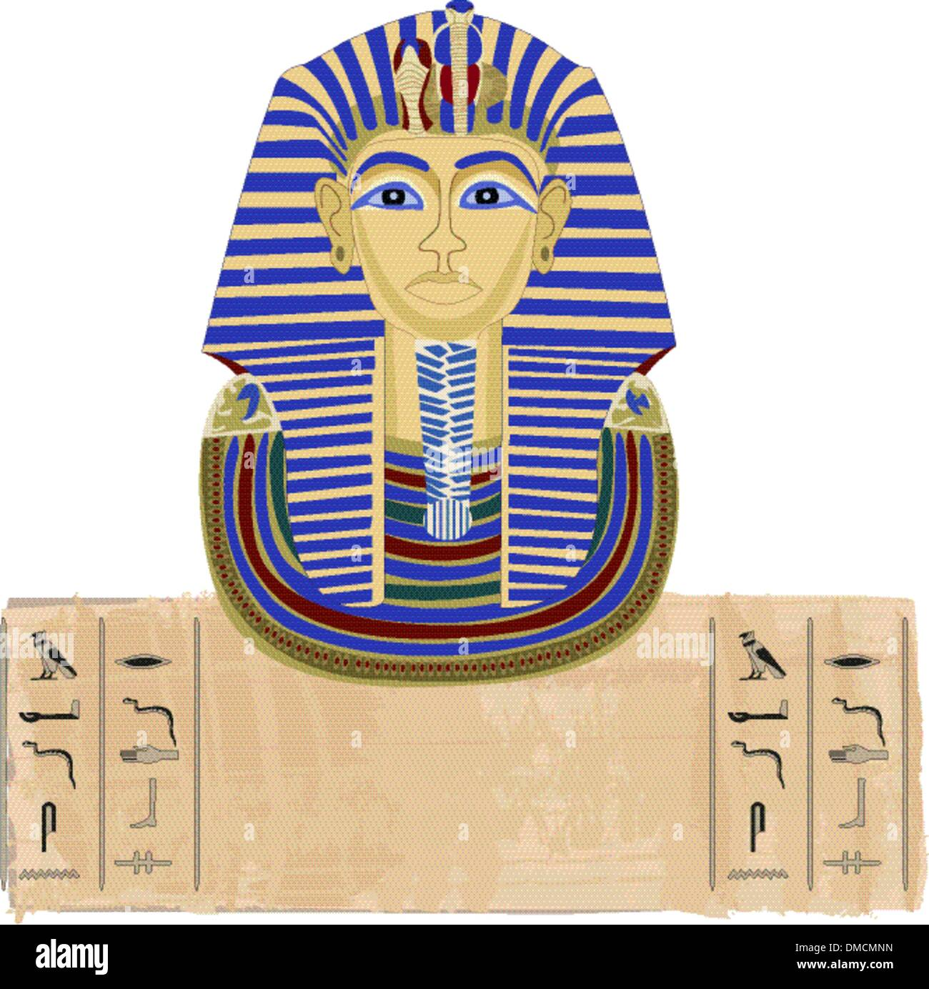 Tutankhamun and Hieroglyphs - Stock Image