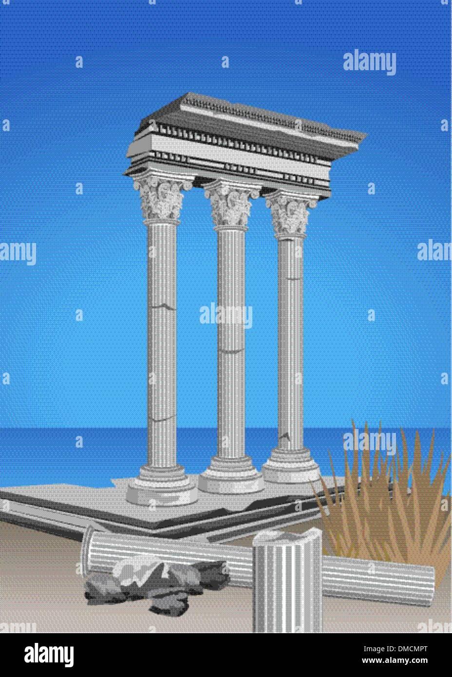 Antique Ruins - Stock Vector