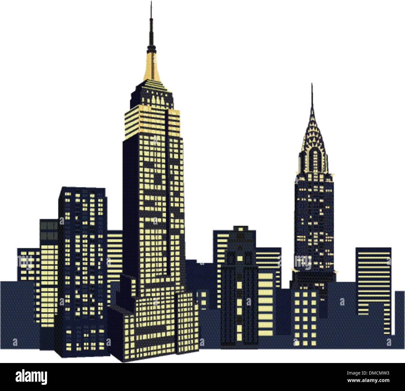 New York Skyscrapers - Stock Vector