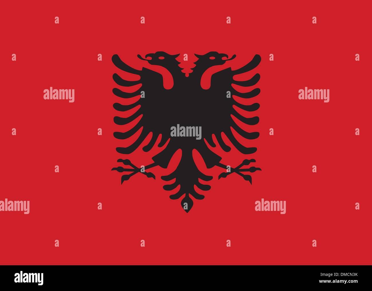 Flag of Albania - Stock Vector