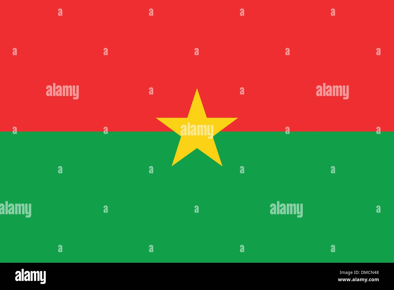 Flag of Burkina Faso - Stock Vector