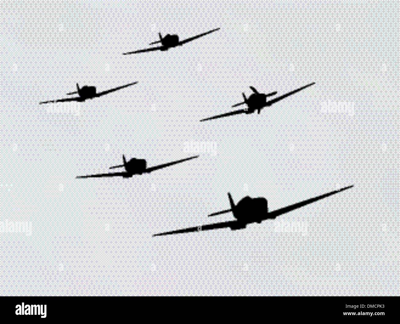 bomber airplane - Stock Vector