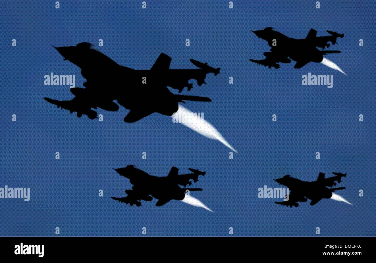 bomber airplanes - Stock Vector