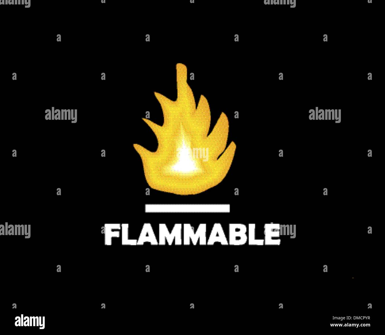 flame illustration,  flammable - Stock Image