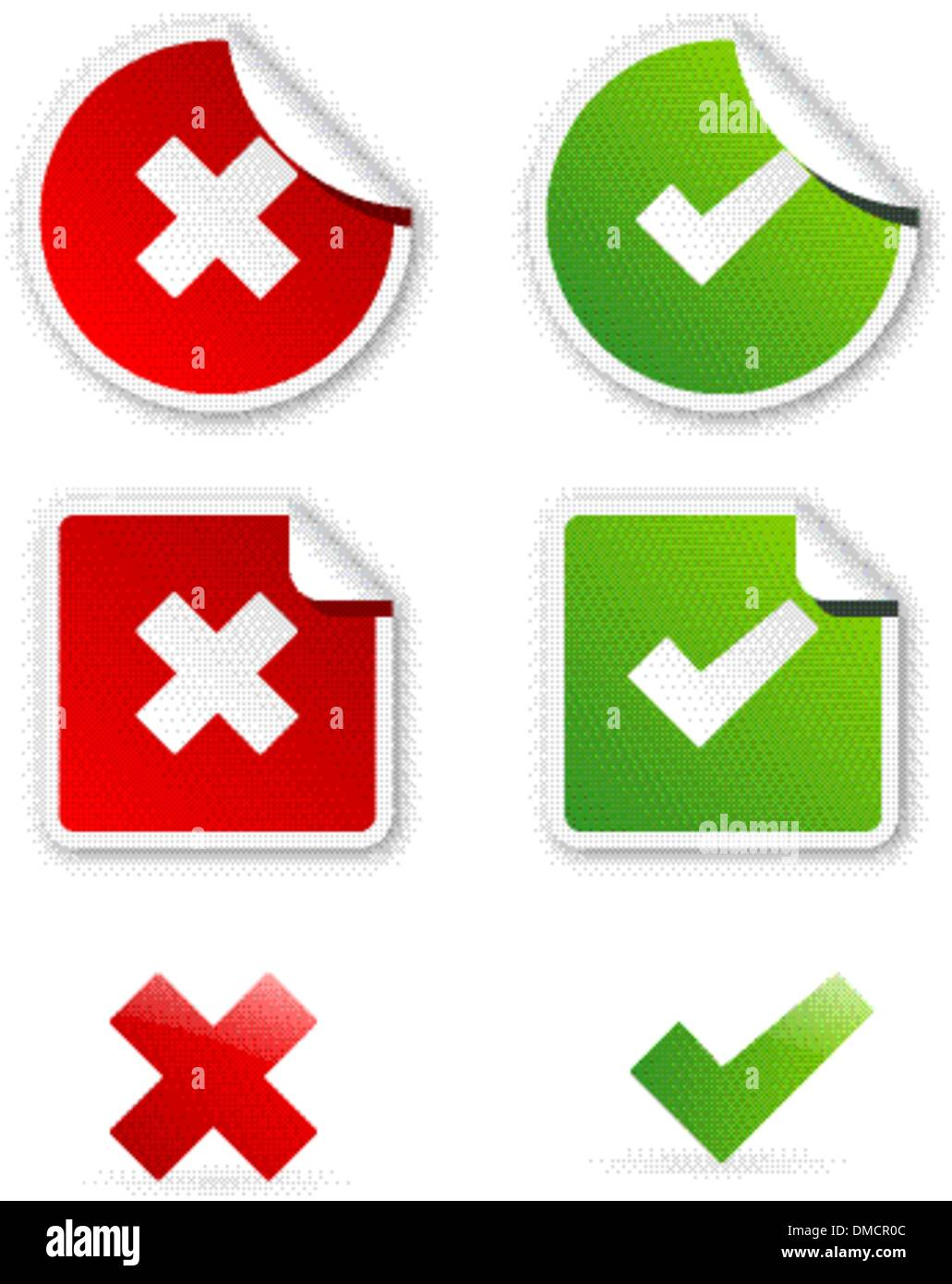 icons of validation - Stock Image