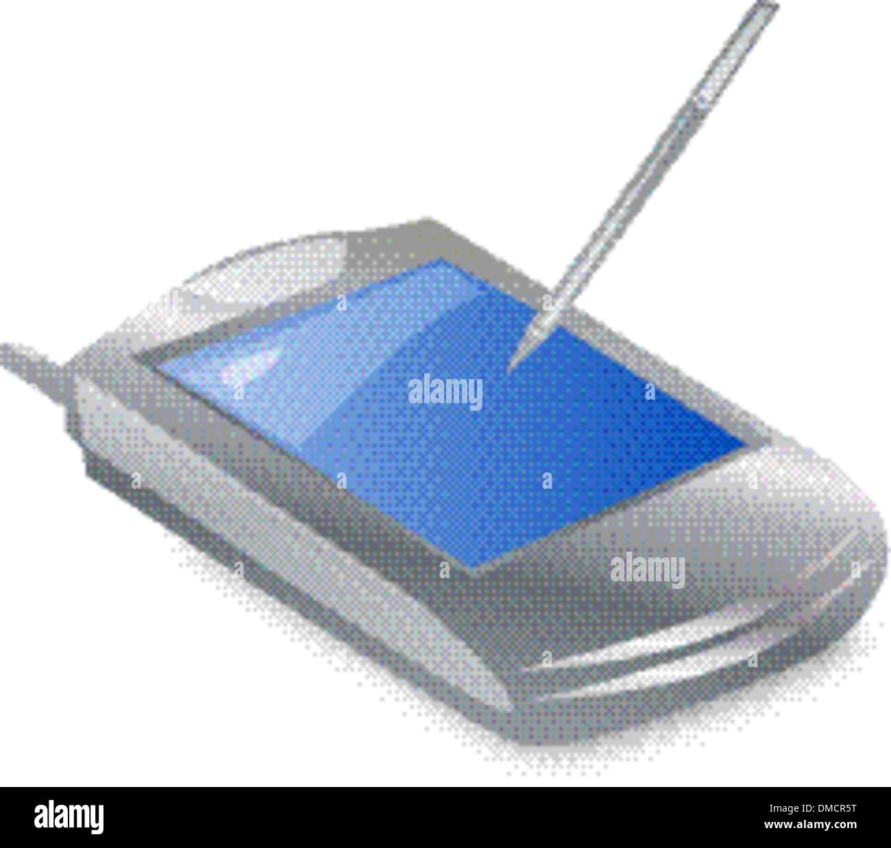 pocket computer pda with great screen and stylus - Stock Image