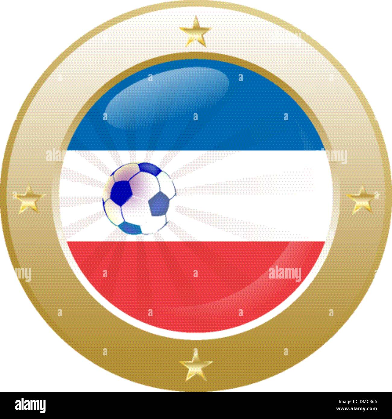 national flag of the Netherlands (Holland) in circular shape wit - Stock Vector