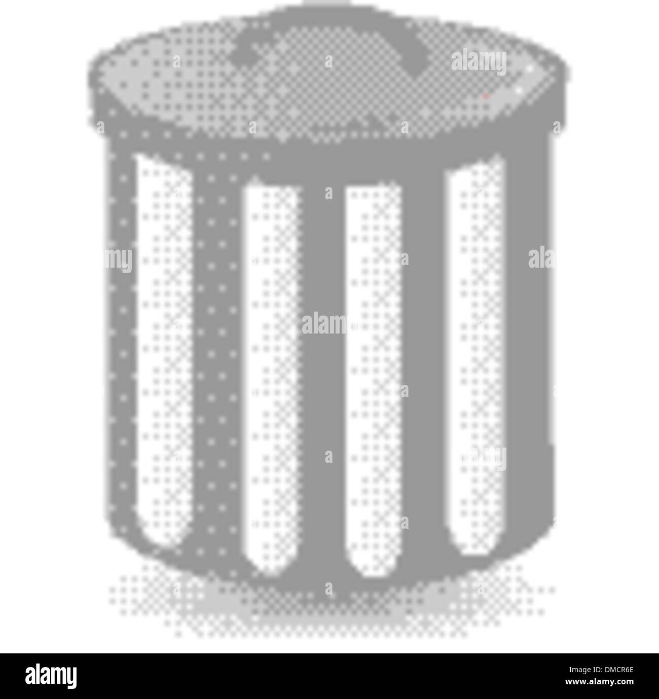 dust bin container trash can - Stock Image