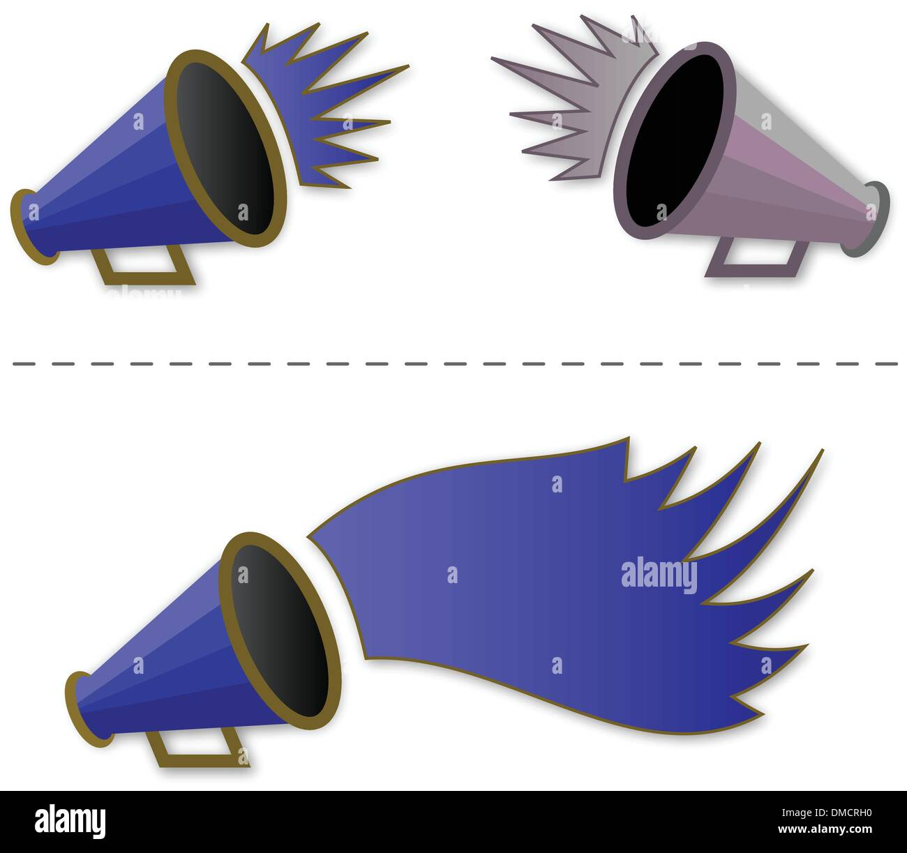 Megaphone shout-out - Stock Image