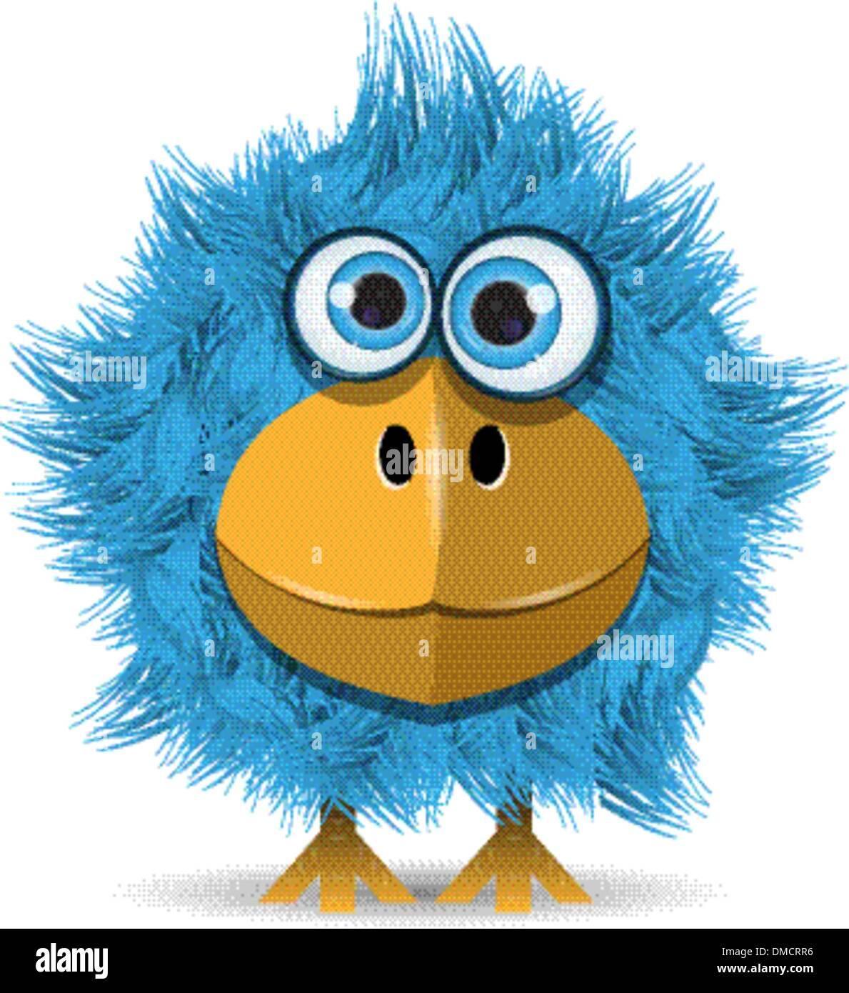 funny blue bird - Stock Image