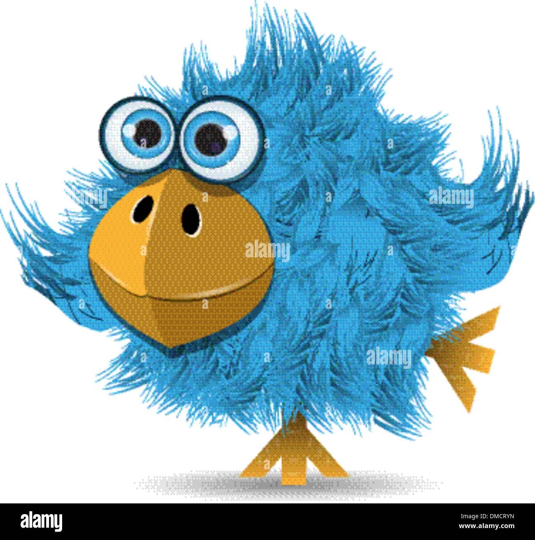 very funny blue bird - Stock Image
