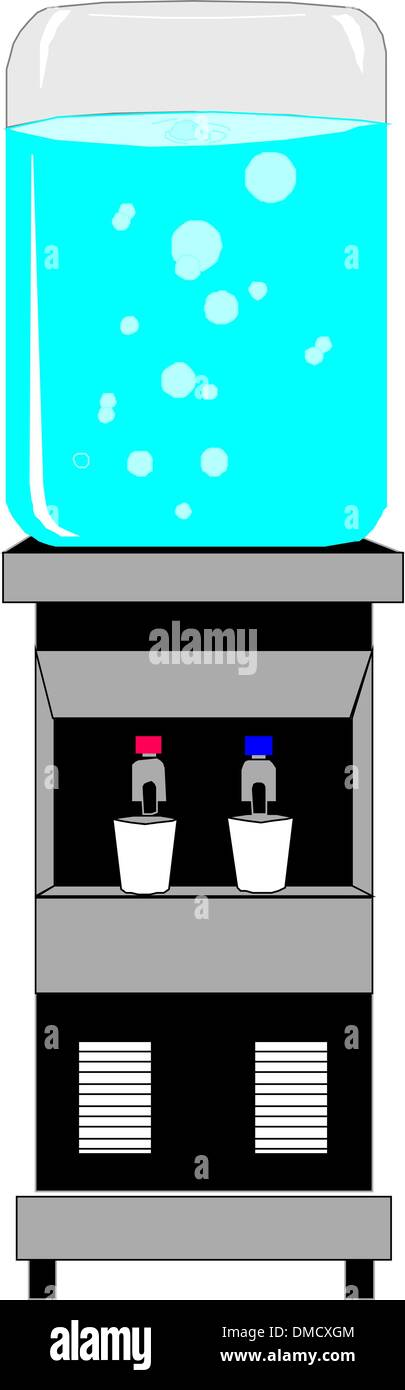 Office water dispenser - Stock Vector
