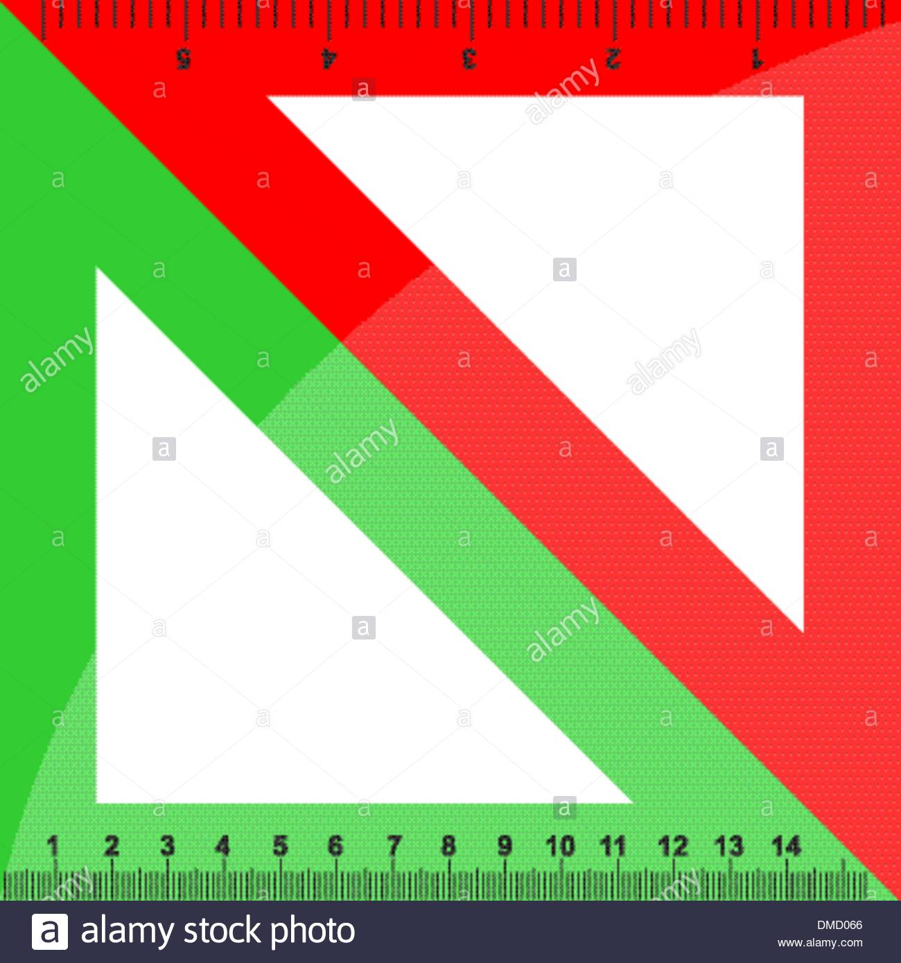 Green and red triangles - Stock Vector