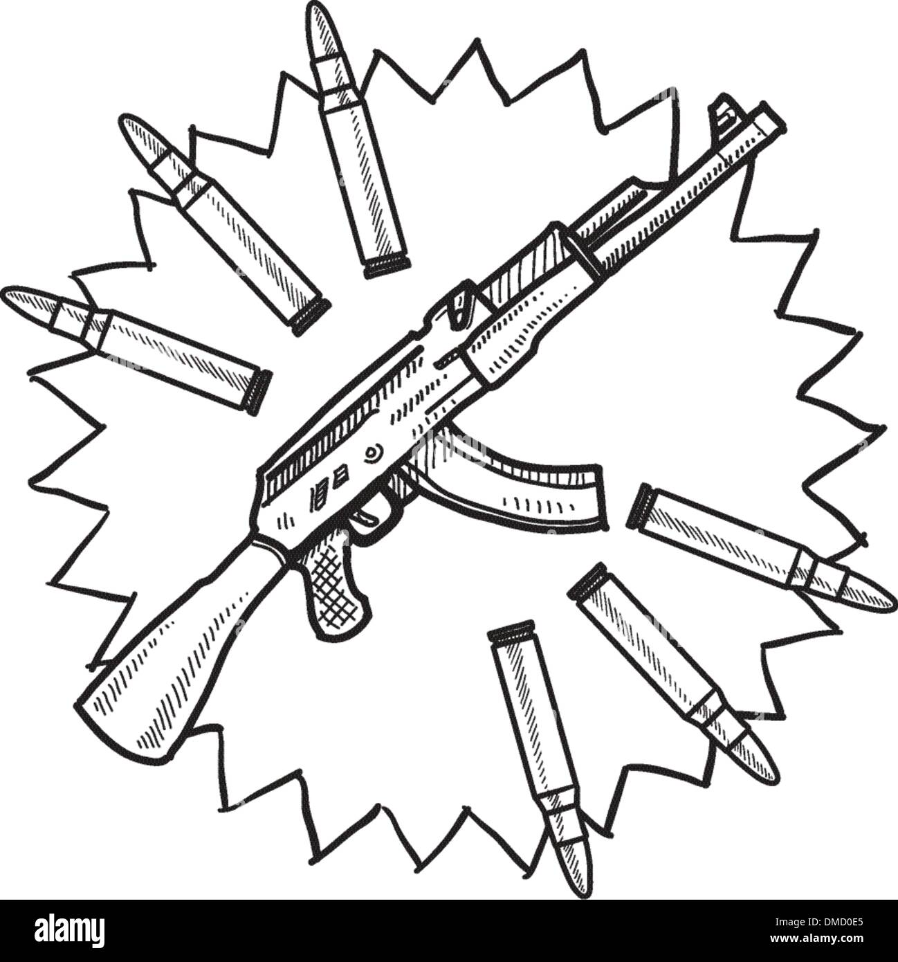 gun rights cut out stock images pictures page 2 alamy 18th Century Explosive Artillery assault rifle sketch stock image