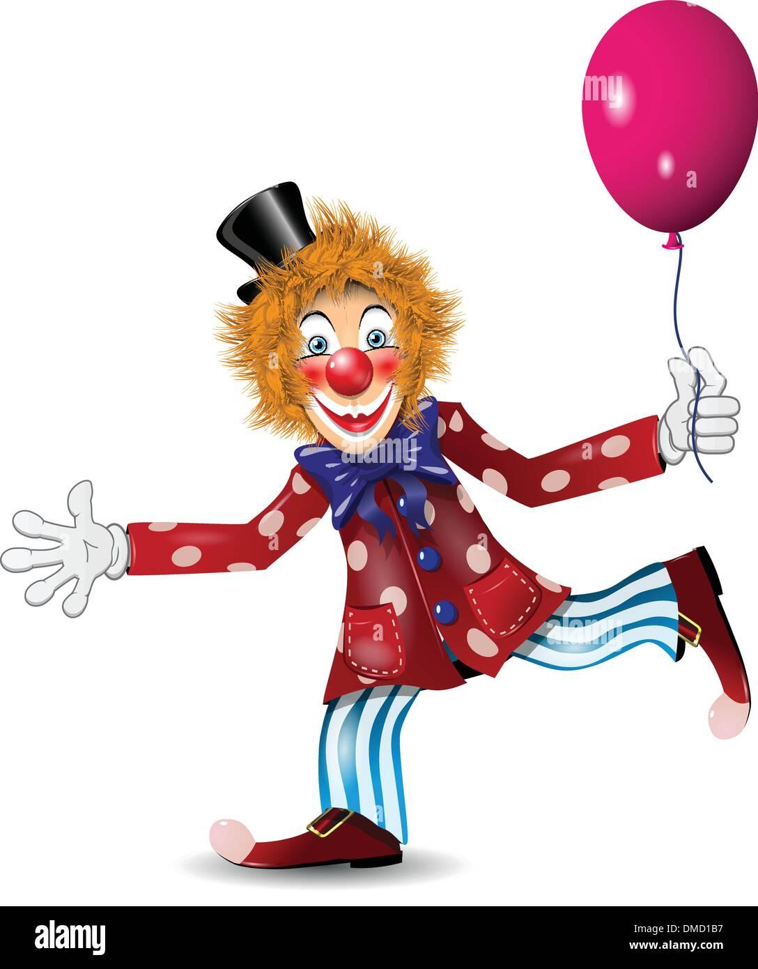cheerful clown - Stock Image