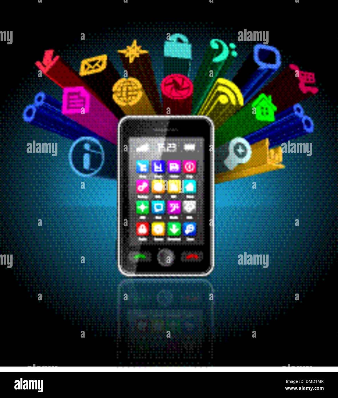 Touchscreen smartphone - Stock Image
