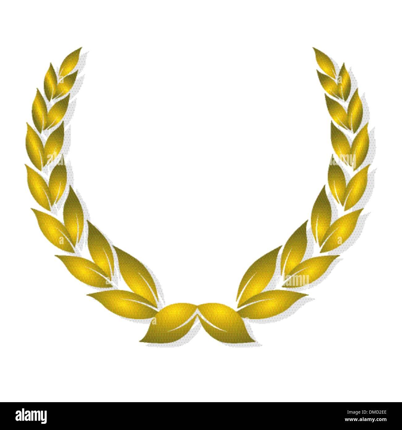 golden laurel award - Stock Vector