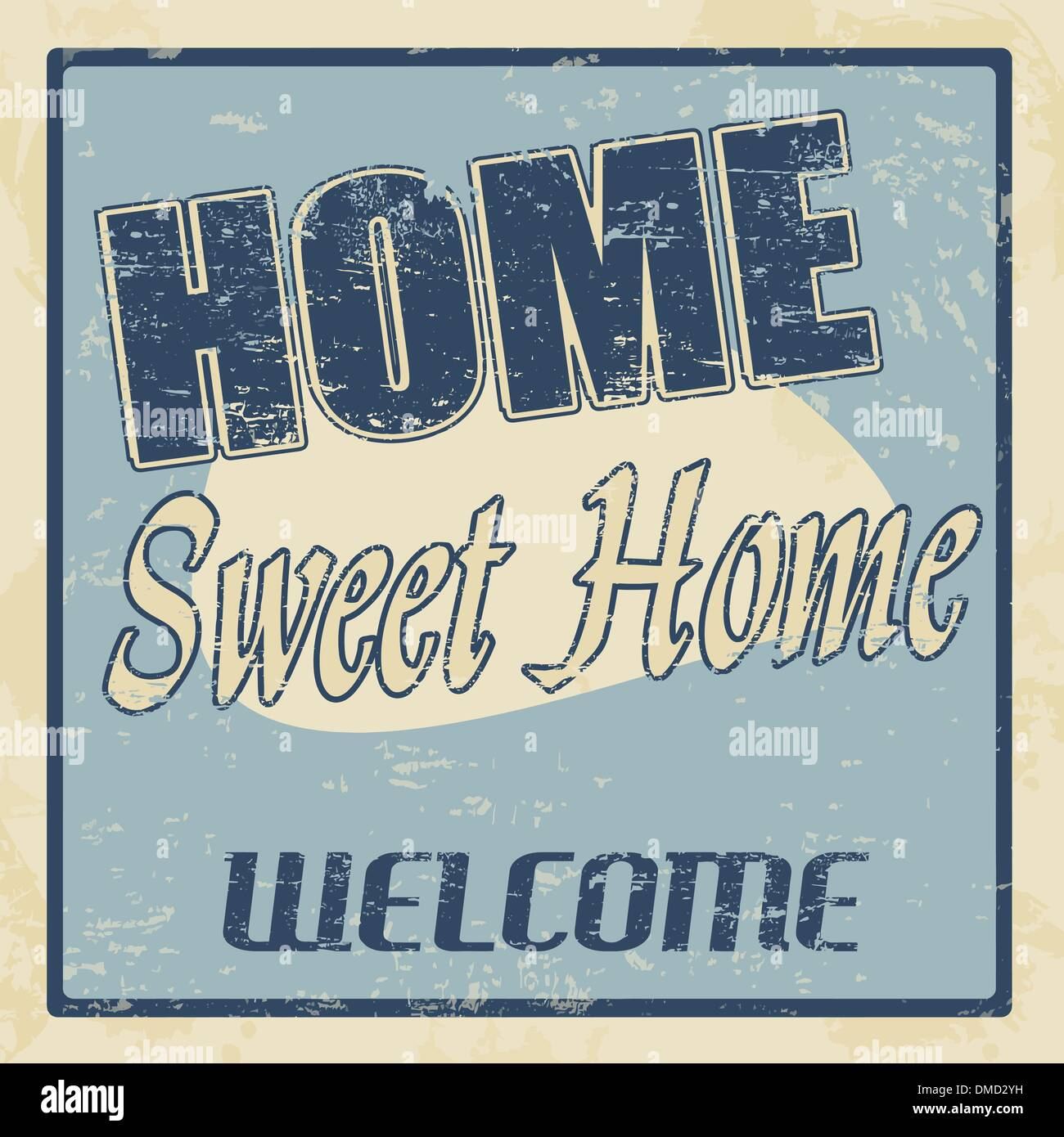 Home sweet home vintage poster - Stock Vector